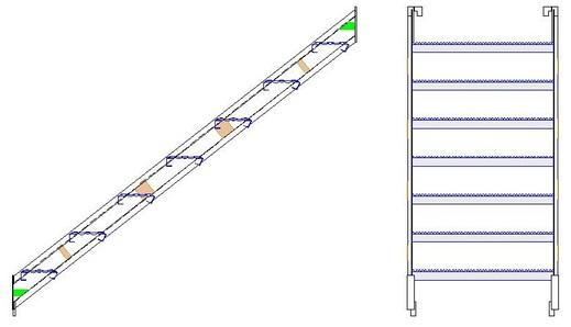 Schodiště STRG 2; 1,5; 1
